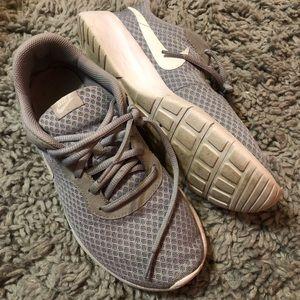 Gray Nike Tanjun Youth Tennis Shoes
